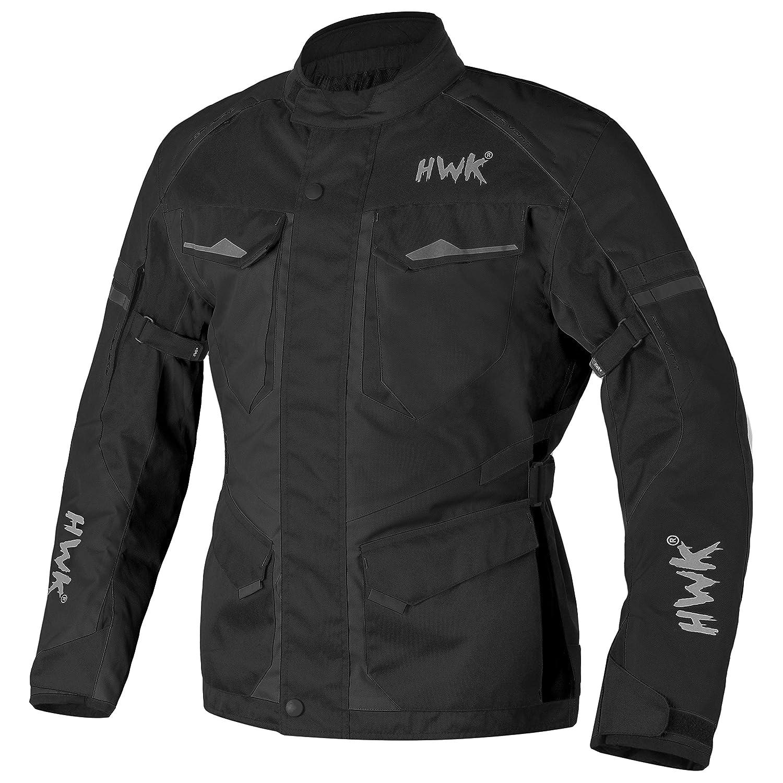 Black, L Adventure//Touring Motorcycle Jacket For Men Textile Motorbike CE Armored Waterproof Jackets ADV 4-Season