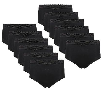 0ba0319f5c7464 Daisy Dreamer 12 Pack Ladies Briefs Maxi, 100% Cotton Full Comfort Fit  Underwear,