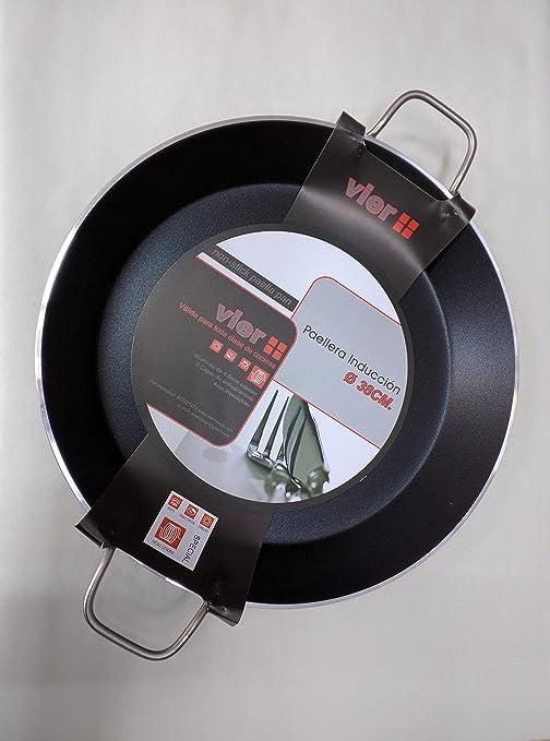 Paella Pan Vier para cocina de inducción, diámetro 38 cm ...