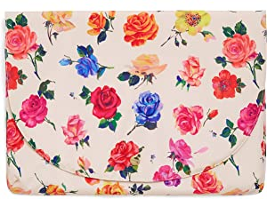 Ban.do Logged On Laptop Sleeve with Button Snap Close, Floral Computer Case Fits Up to 15-inch Laptop, Coming Up Roses