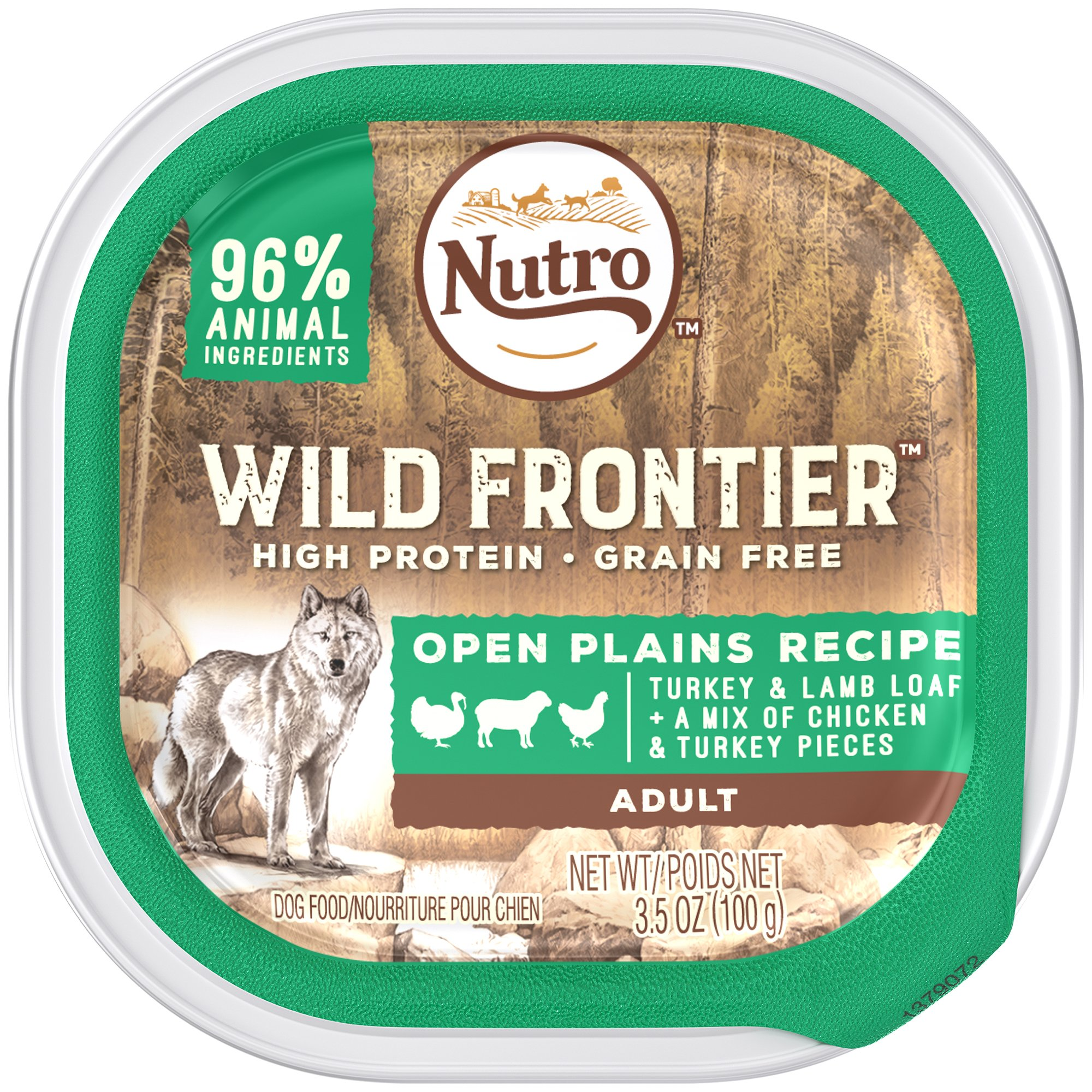 DISCONTINUED: NUTRO Wild Frontier Open Plains Recipe Turkey and Lamb Loaf With a Mix of Chicken and Turkey Pieces Dog Food Trays 3.5 Ounces (Pack of 24) by Wild Frontier Wet Dog