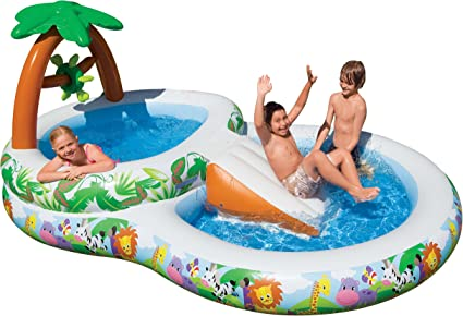 Intex 57467NP - Piscina Inflable Doble con Palmeras: Amazon.es ...