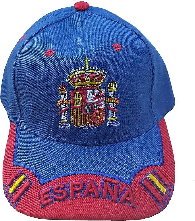 LGP - Gorra Escudo DE ESPAÑA Mod.12 Azul Electrico y Rojo: Amazon.es: Ropa y accesorios