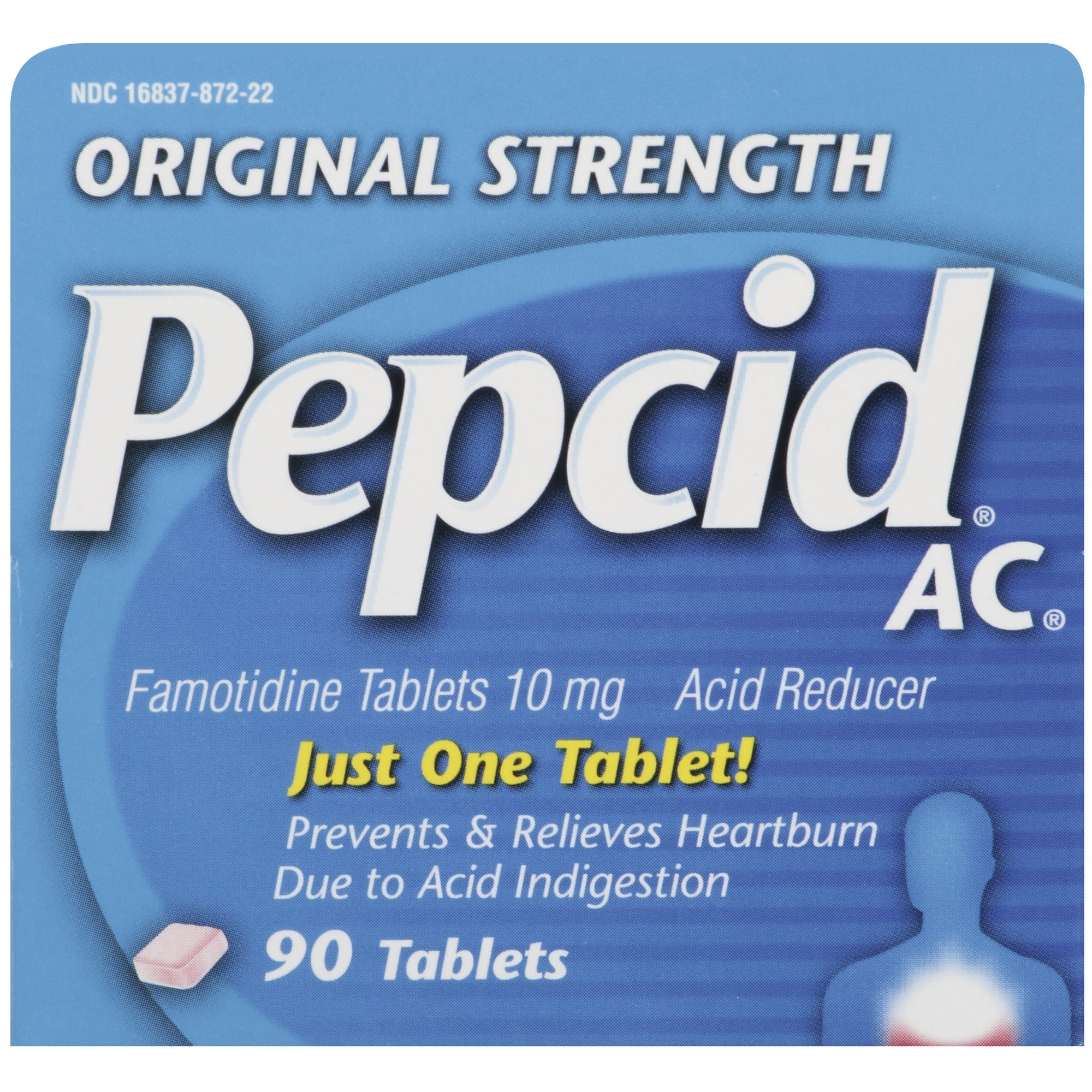Original Strength Pepcid AC All-Day Heartburn Indigestion Relief Tablets, 90 count by Pepcid