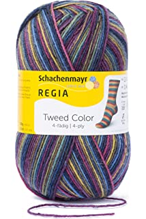 Regia 4 de Lana Tweed Color 9801247 – 07496 Twilight Mano de Tejer Hilo, Calcetines