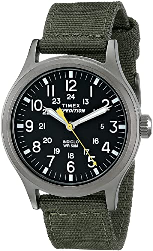 Amazon.com: Timex Men's T49961 Expedition Scout 40 Green Nylon ...