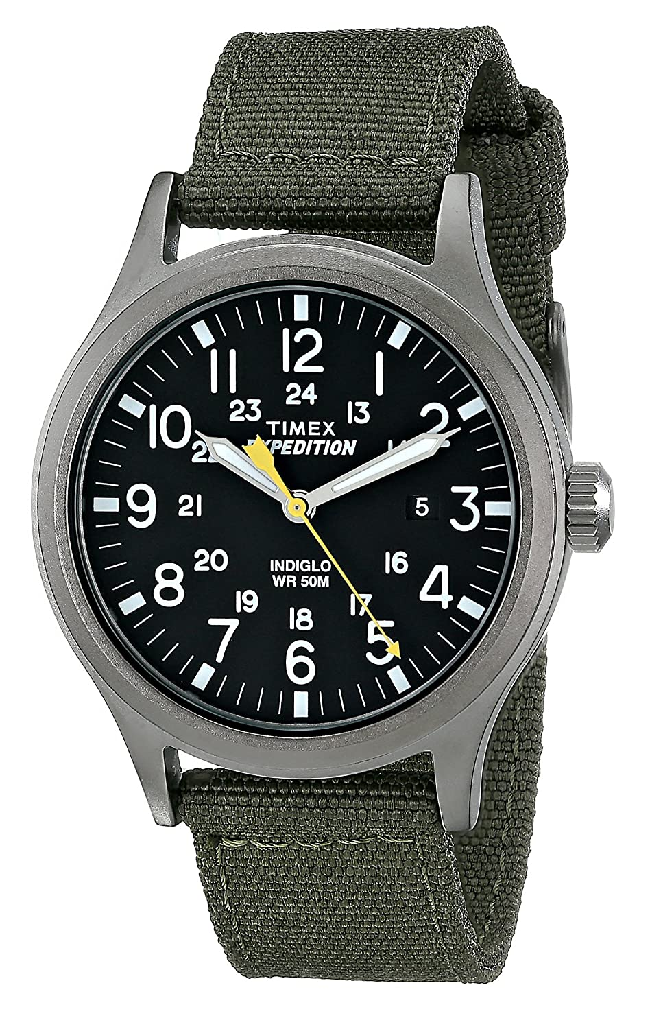 39fe32c9be53 Amazon.com  Timex Men s T49961 Expedition Scout Green Nylon Strap Watch   Watches