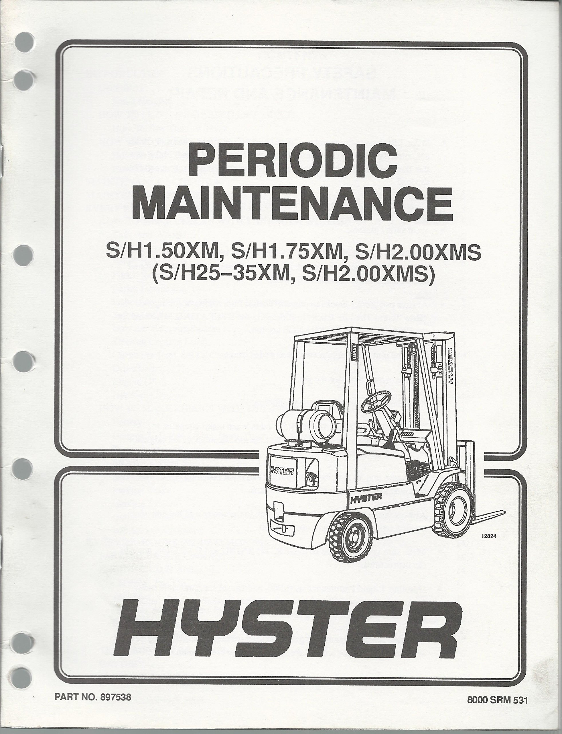 Hyster Wiring Diagram Review Ebooks Diagrams For 50 Forklift S H1 50xm 75xm H2 00xms Periodic Maintenance Manual Rh Amazon Com Old