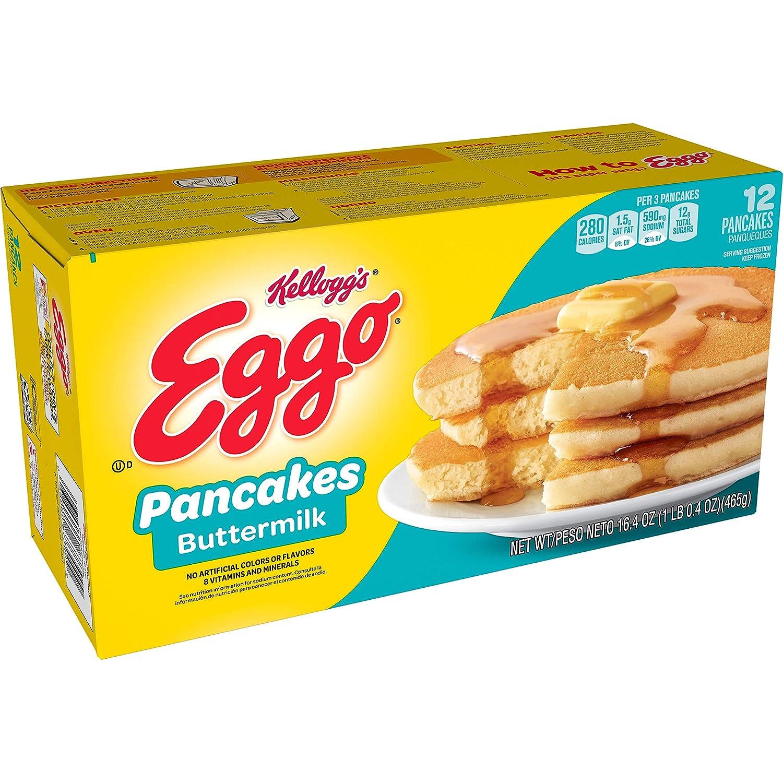KELLOGG'S EGGO Eggo Buttermilk Pancakes Box, 16.39 oz (frozen)