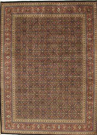 Amazon Com Pasargad Carpets Tabriz Collection Hand Knotted Lamb S Wool Area Rug 10 X 14 Navy Rust Furniture Decor