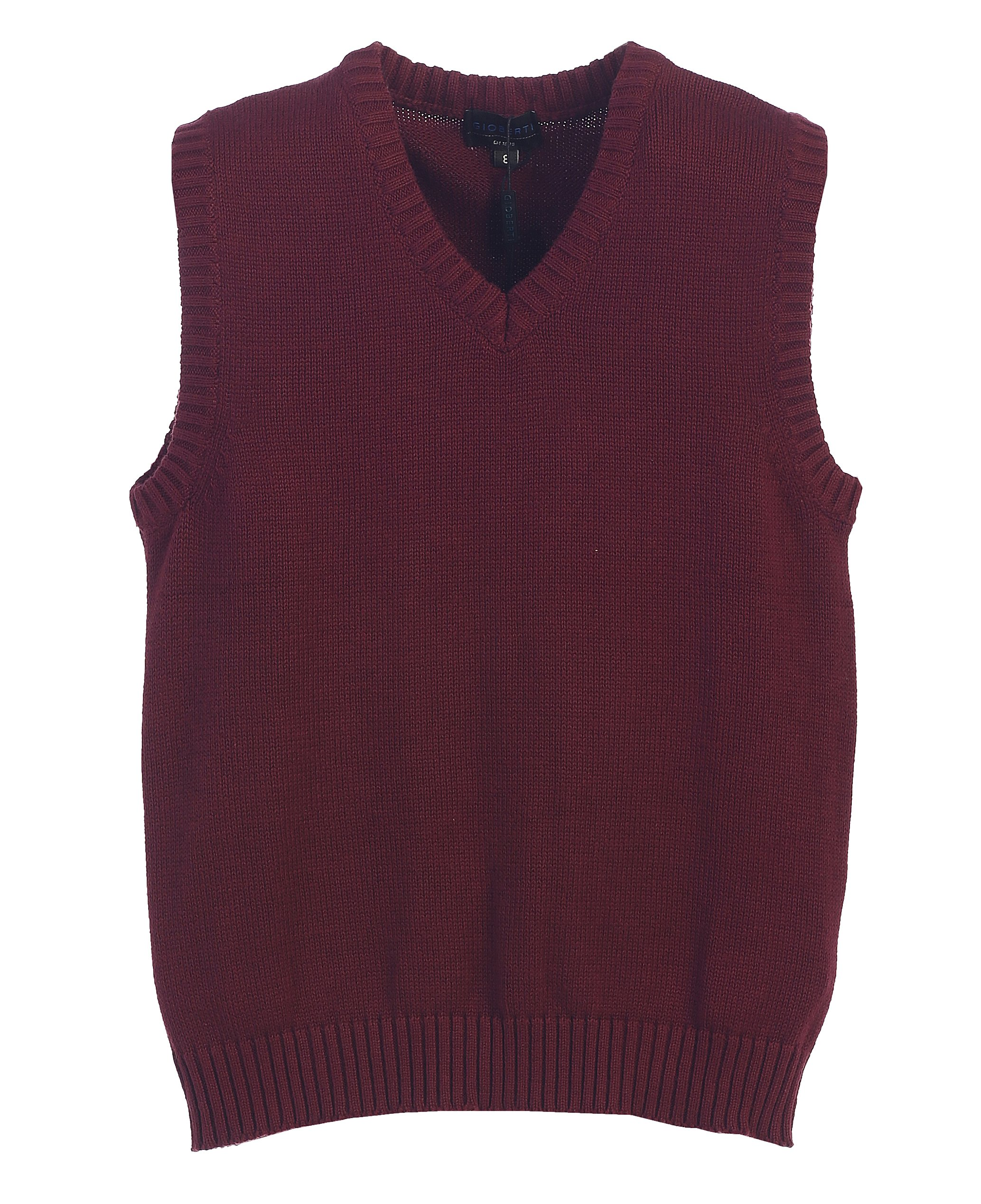5d6b8b55104fc Gioberti Boy s V-Neck Knitted Pullover Sweater Vest product image