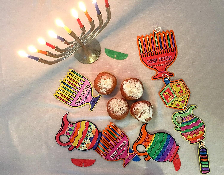 Hanukkah Holiday Table Decorations for Kids \u0026 Gifts DIY Hanukkah Mobile