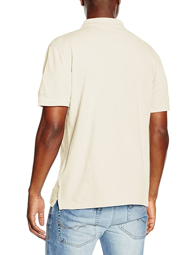 TOM TAILOR Herren Poloshirt Polo with Application, Elfenbein (Off White 8005),  Small: Amazon.de: Bekleidung