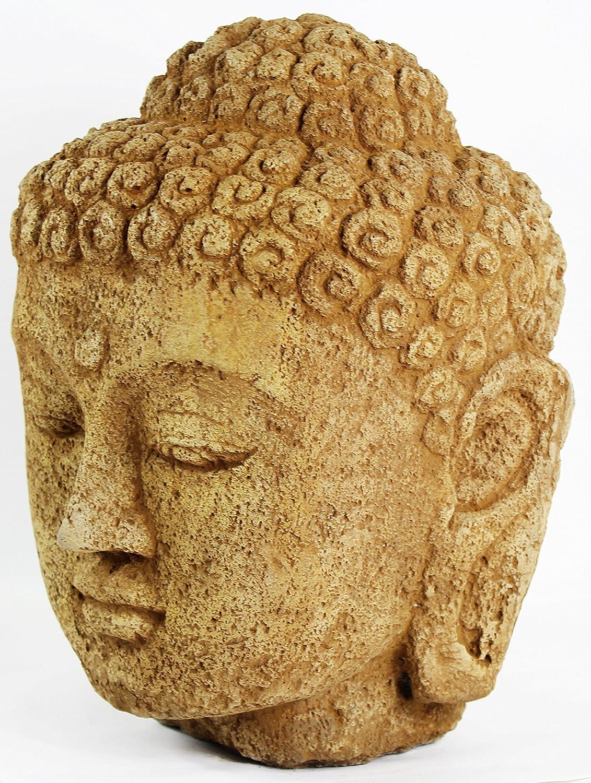 Cabeza de Buda grande estatua de hormigón: Amazon.es: Jardín