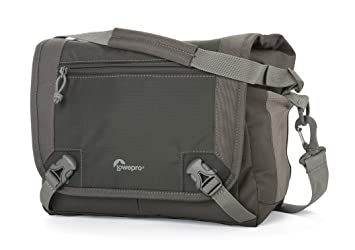 Lowepro Nova Sport 17L AW - Bolsa Bandolera para cámaras réflex (con Compartimentos para Accesorios), Gris