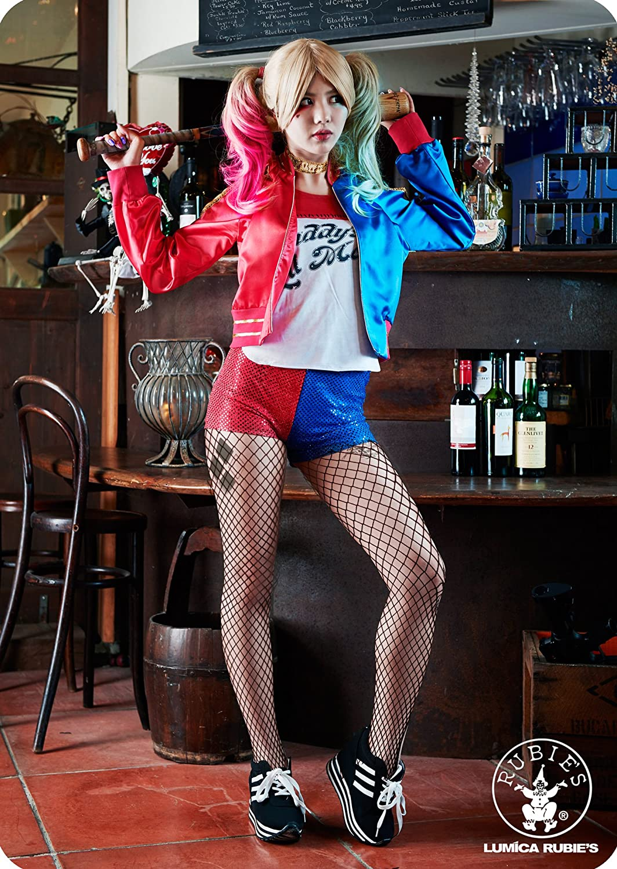 S Erwachsene Harley Quinn Damen-Kost/üm Suicide Squad 6-10 Rubies Offizielles