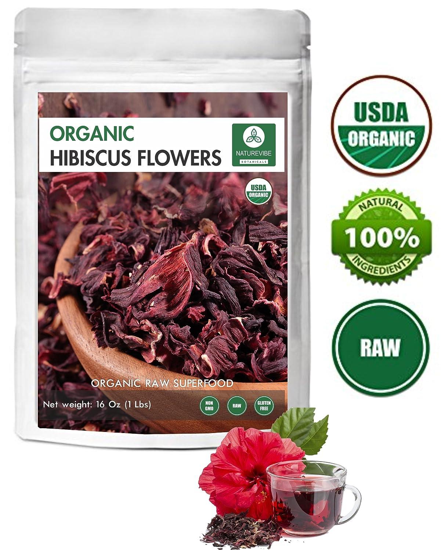 Amazon Organic Hibiscus Flowers 16oz Resealable Bag Indian