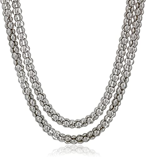 Sterling Silver Popcorn Chain 1.3mm Solid 925 Italy New Necklace