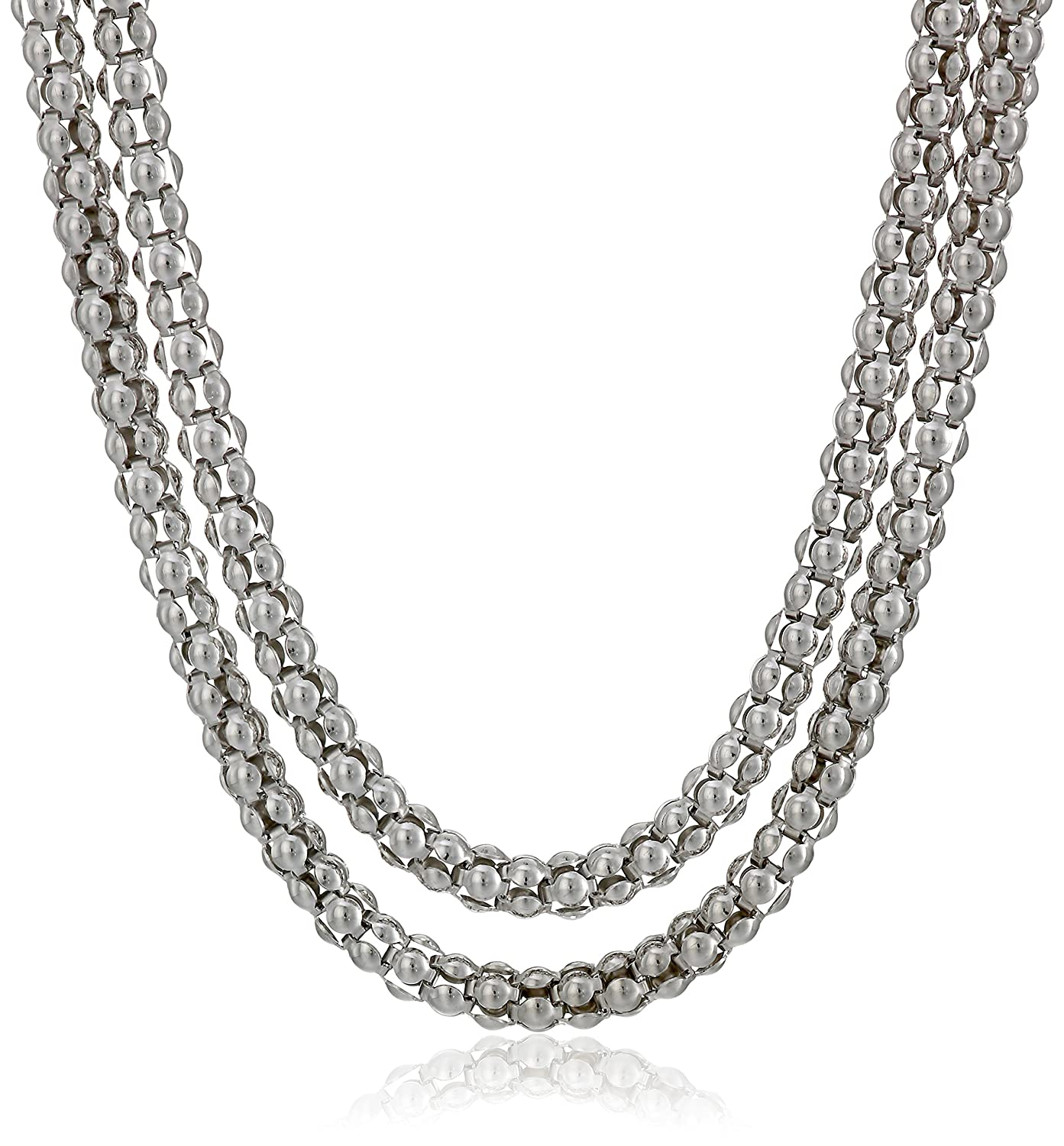 Sterling Silver Italian Popcorn Chain Necklace 16 Amazon Collection AGG 2.0 16
