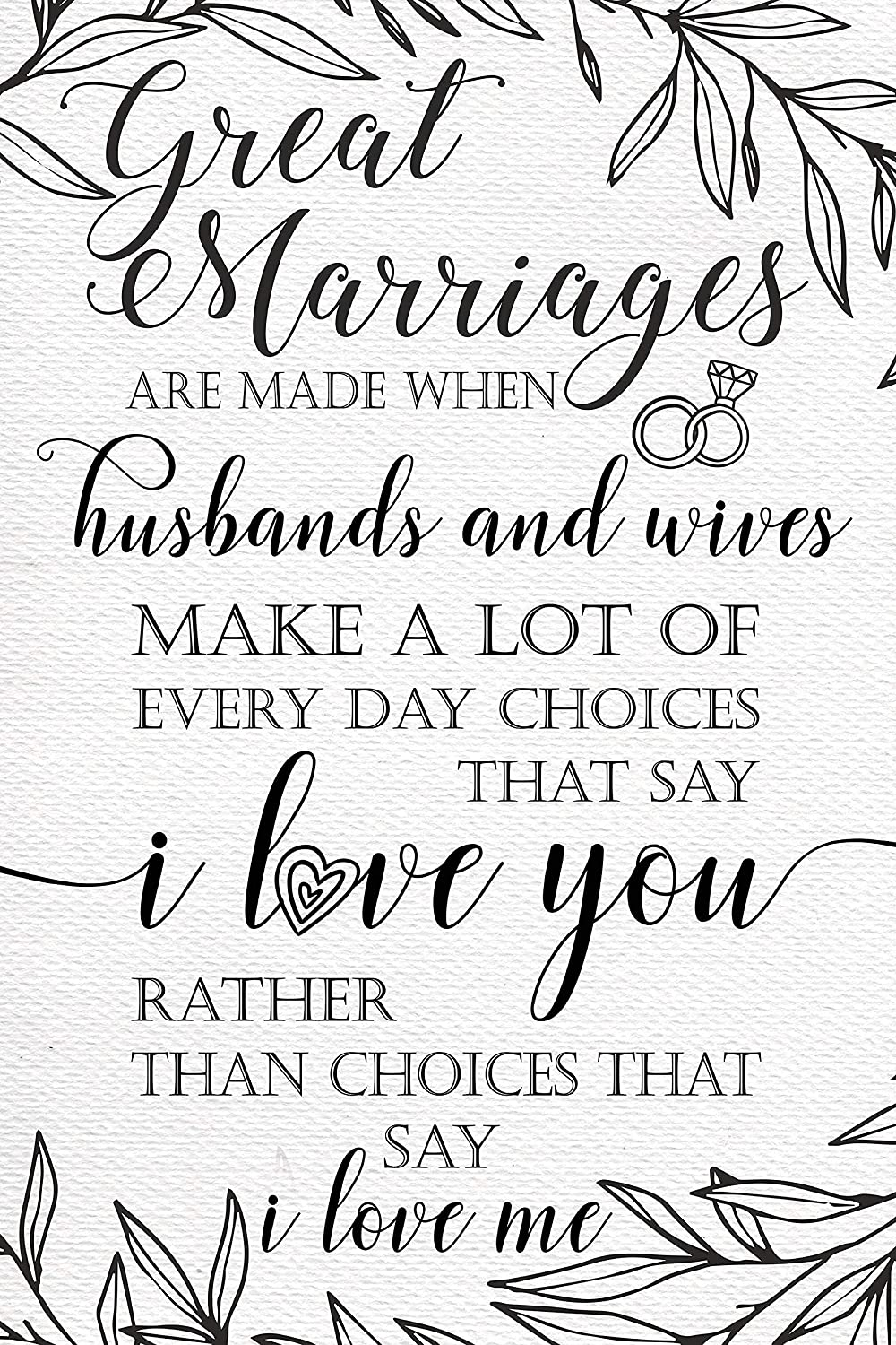 Amazon com: Inspirational Marriage Quotes Love Sign, Love