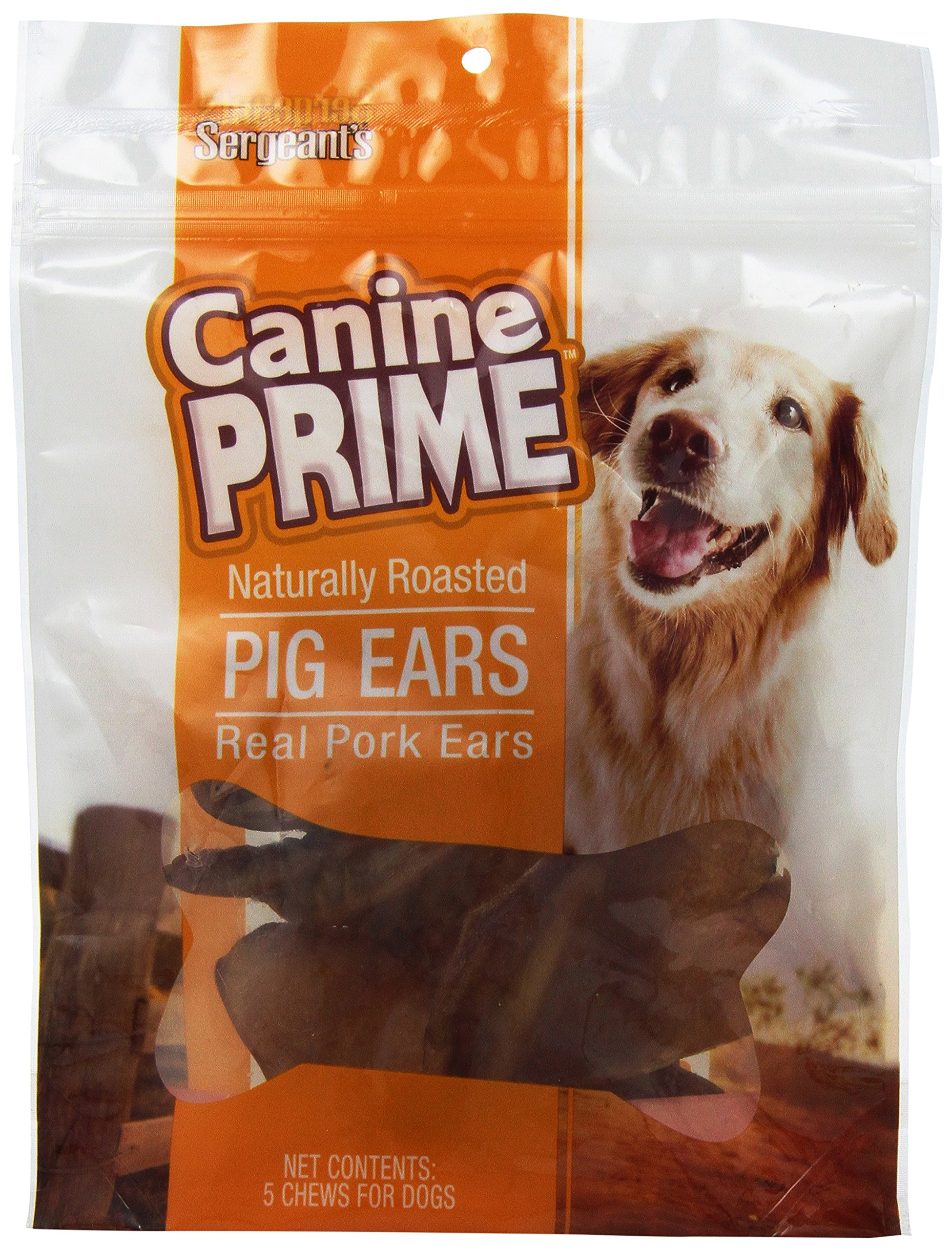 Sergeant's Pig Ear Halves 5-Count Dog Treat