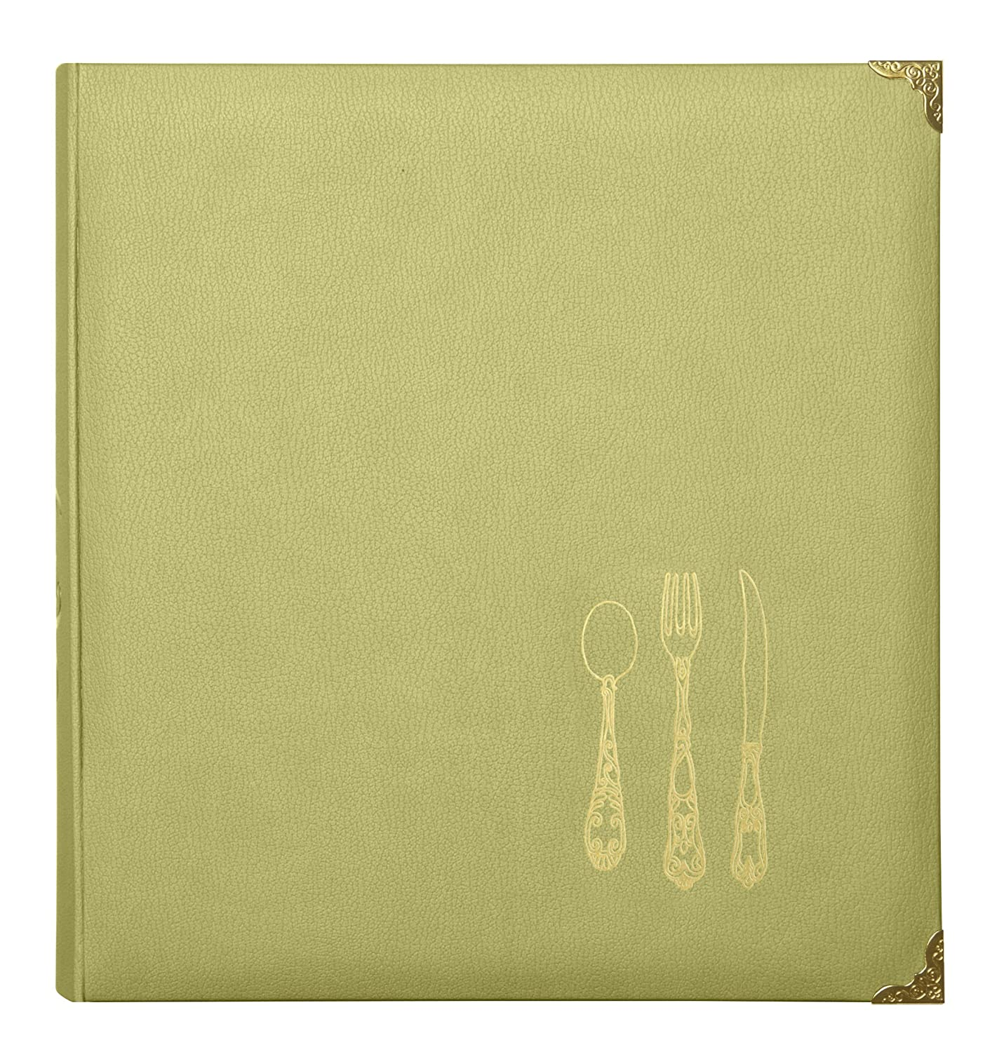 C.R. Gibson Leatherette Recipe Binder, Black/Multicolor QP14-16862