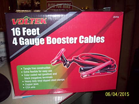JEGS Premium Booster Cable 4 Gauge 25 ft Emergency Car Battery Jumper 81964