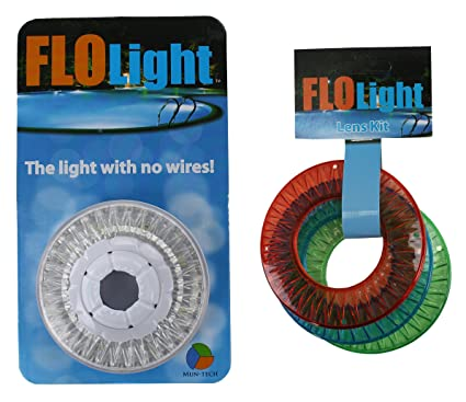 LED FLOlight Above Inground Swimming Pool Wireless Flo Light w/ Colored  Lens Kit