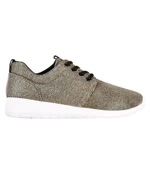 Sneakers nere con allacciatura elasticizzata per donna Oodji Ultra k6qw3VQ