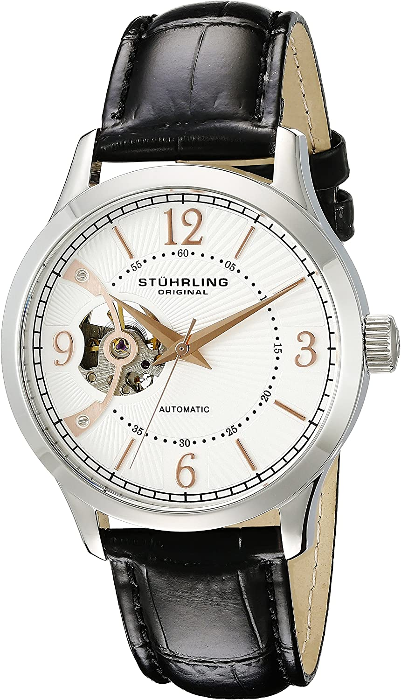 Stuhrling Original Men s 987.01 Legacy Analog Display Automatic Self Wind Black Watch