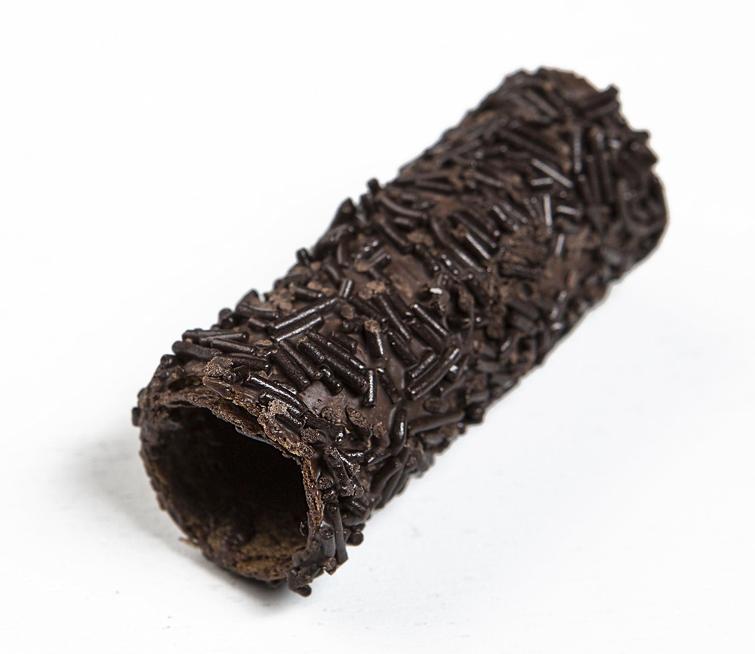 Bakersland Wafer Roll 2.5''x1'' Dark Choco, Choco Sprinkles, 60 Pcs. by Bakersland (Image #1)