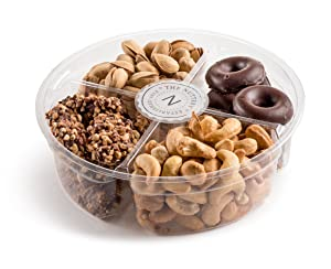 The Nuttery Deluxe 4 Section - Chocolate and Roasted Nuts Gift Tray