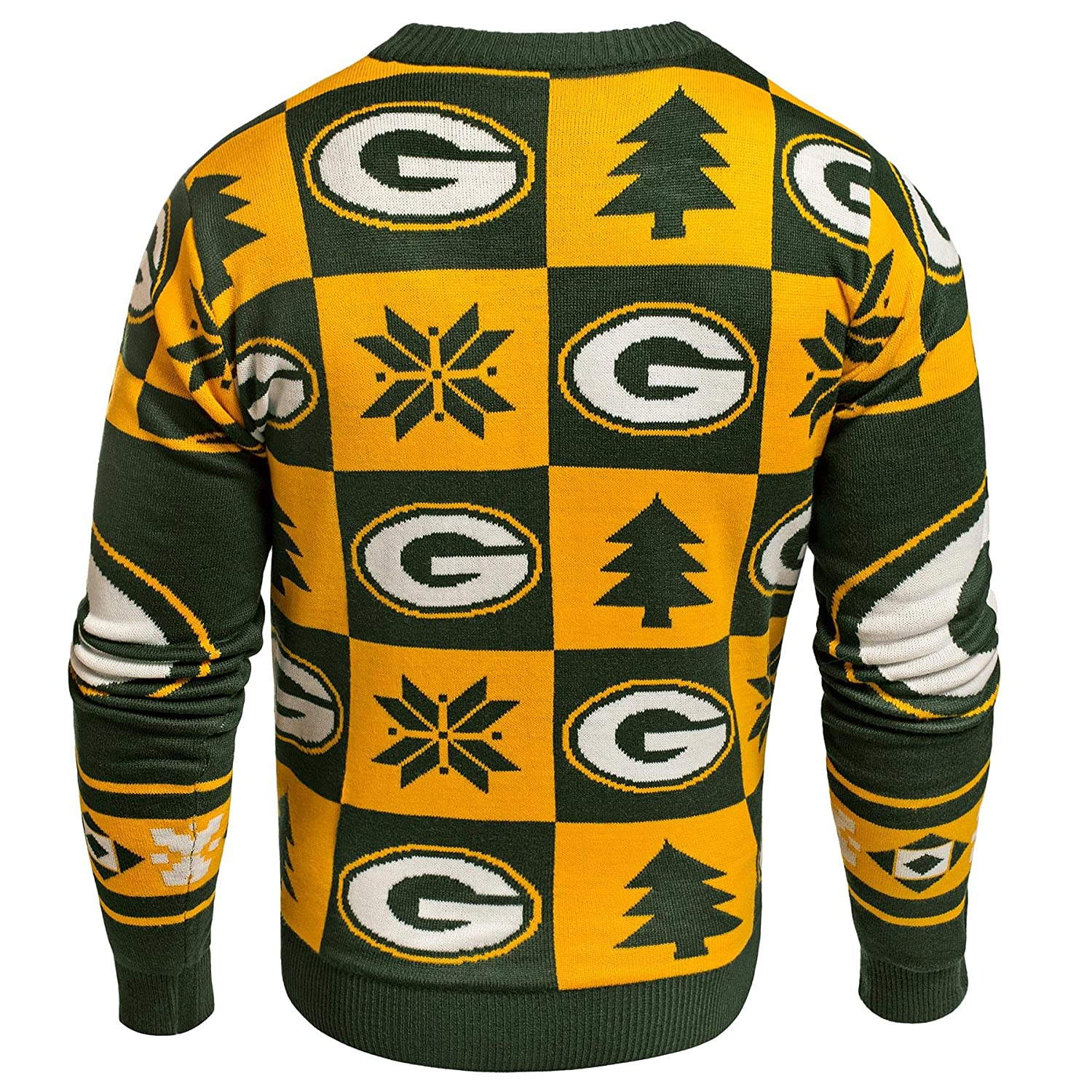 Forever Collectibles Los Angeles RAMS 2016 Patches Ugly Crew Neck Sweater
