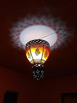 Lámpara marroquí lámpara Farol Piel Hierro Henne Oriental ...