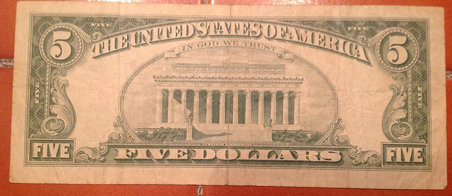 Amazon 1963 red seal 5 dollar bill toys games xflitez Choice Image