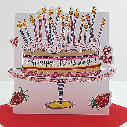 Rachel Ellen pastel tarjeta del feliz cumpleaños: Amazon.es ...
