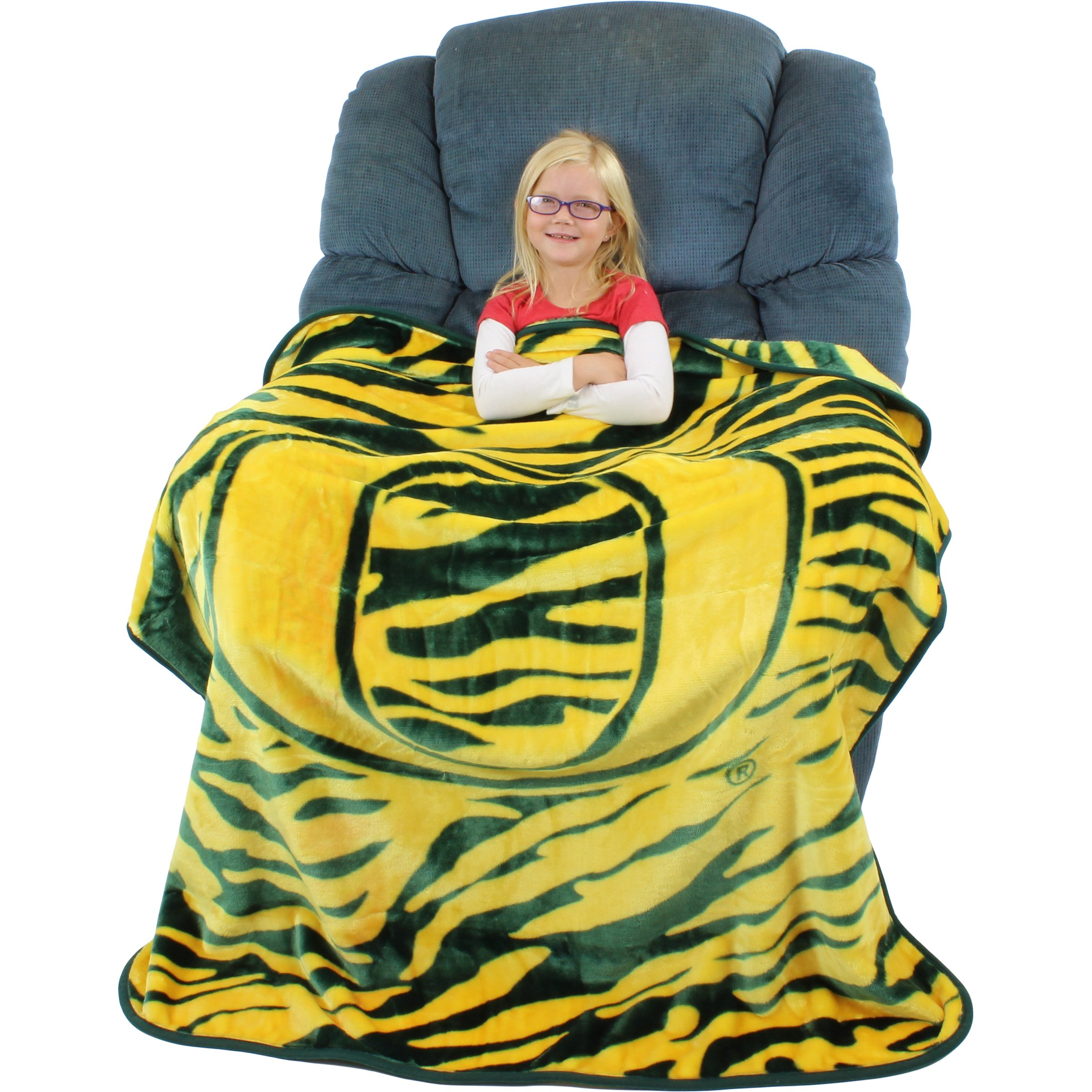 College Covers Oregon Ducks Super Soft Raschel Throw Blanket, 50'' x 60''