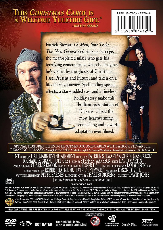 A Christmas Carol 1999.Amazon Com A Christmas Carol Patrick Stewart Joel Grey