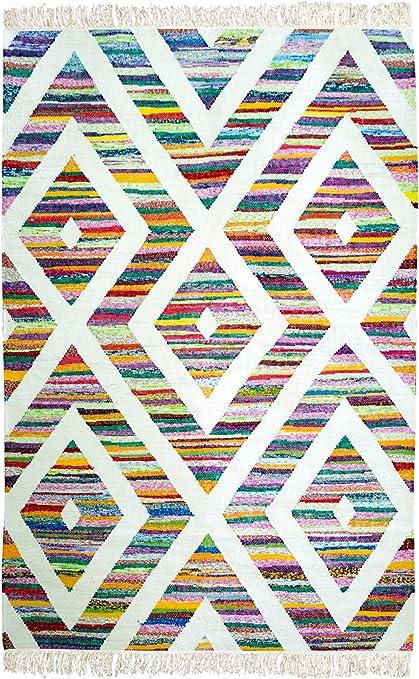 Yute & Co. Kilmis - Alfombra de algodón y Tela, Color Gris 140 x ...