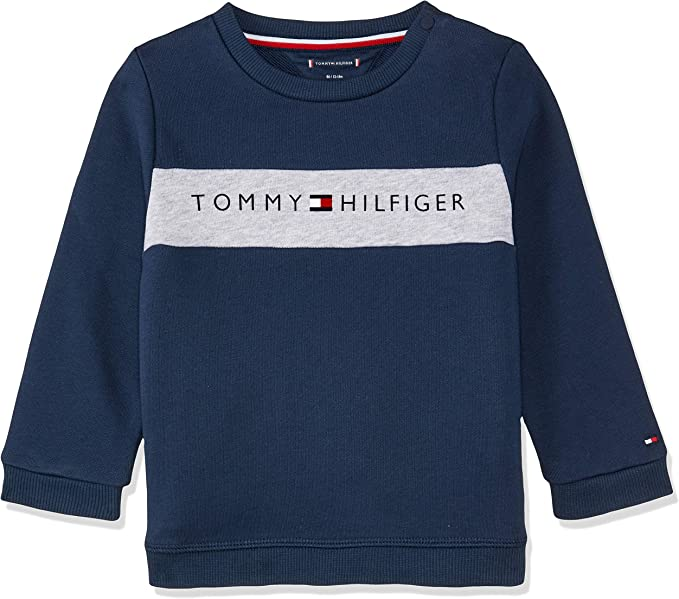 Tommy Hilfiger Baby-Jungen Velours Sweatpants Hose