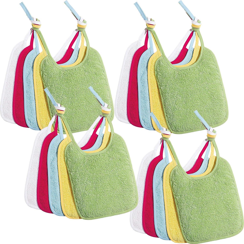 weitere Farben 100/% Baumwolle Baby-L/ätzchen 2er-Pack Frottier pink Gr/ö/ße 30x24 cm Erwin M/üller Kinder-L/ätzchen zum Binden