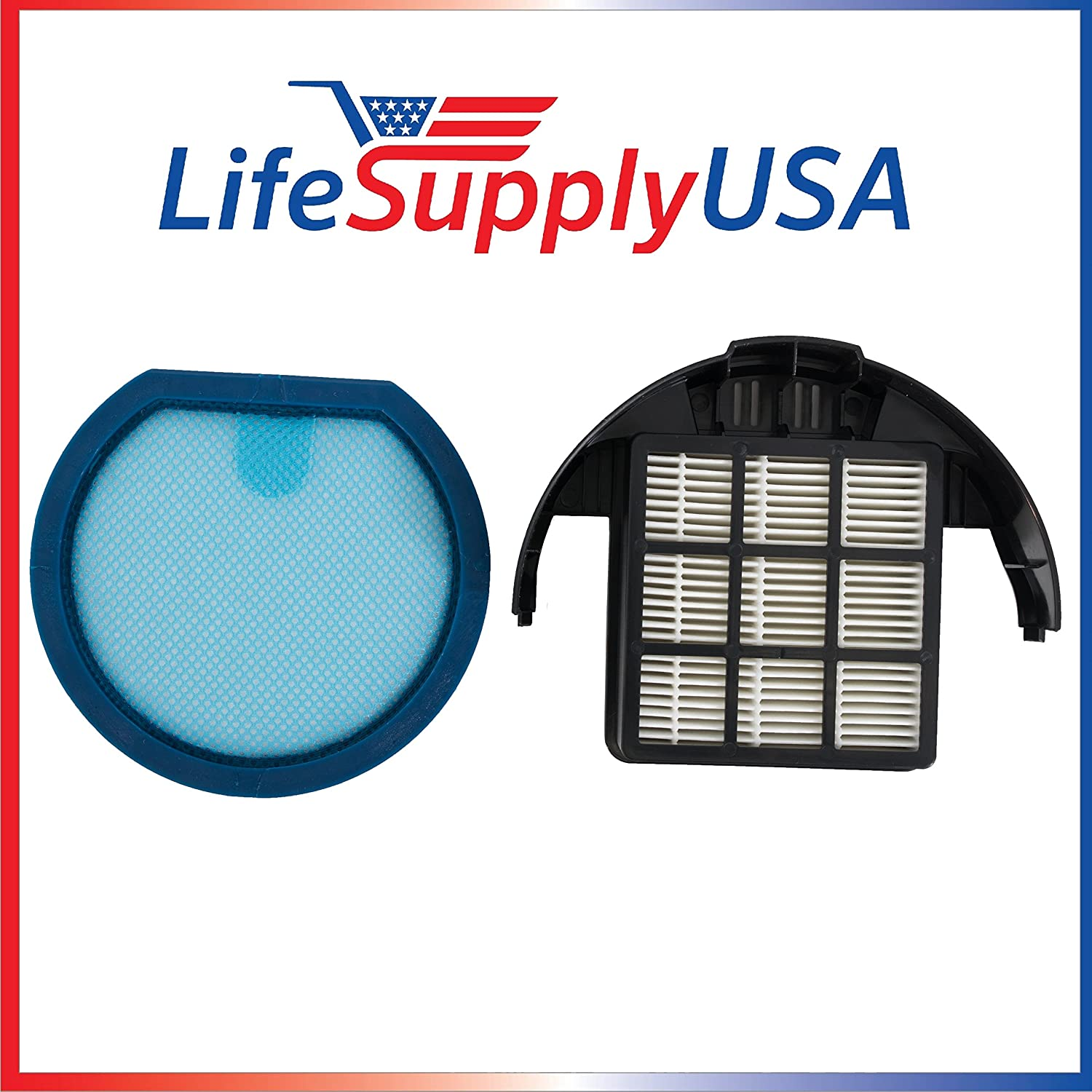 LifeSupplyUSA Replacement Filter Kit Compatible with Hoover T-Series WindTunnel Bagless Upright fits 303173001 and 303172002