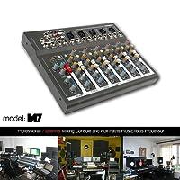 YaeKoo Professional 4/7-Channel Live Studio Audio Sound USB Mixer Mixing Console (7-Channel)