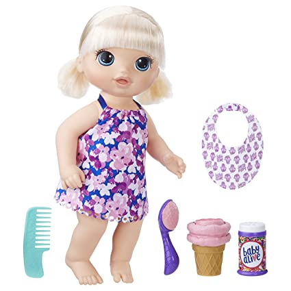 Baby Alive Magical Scoops Baby Blonde Fashion Dolls at amazon
