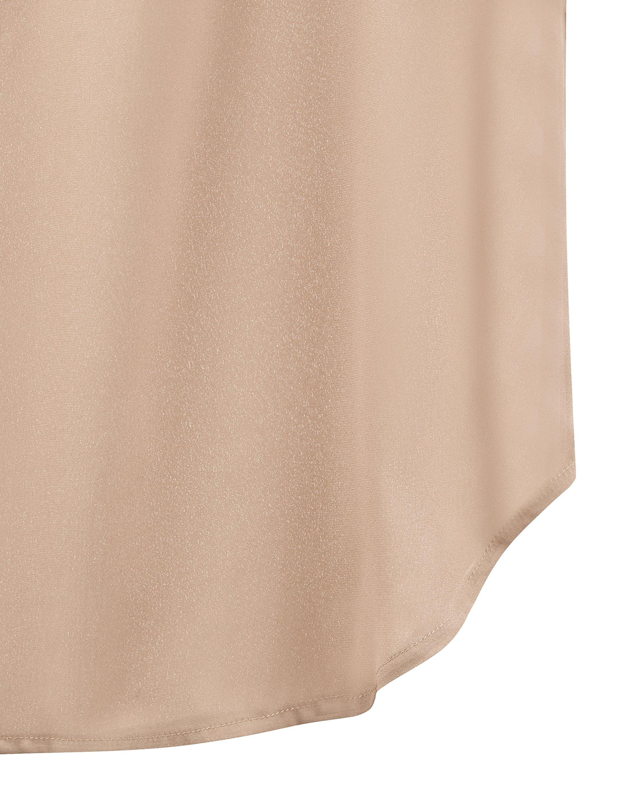Regna X Love Coated Womens Henley V Neck Sleeveless Curved Hem Chiffon Blouse by Regna X (Image #5)
