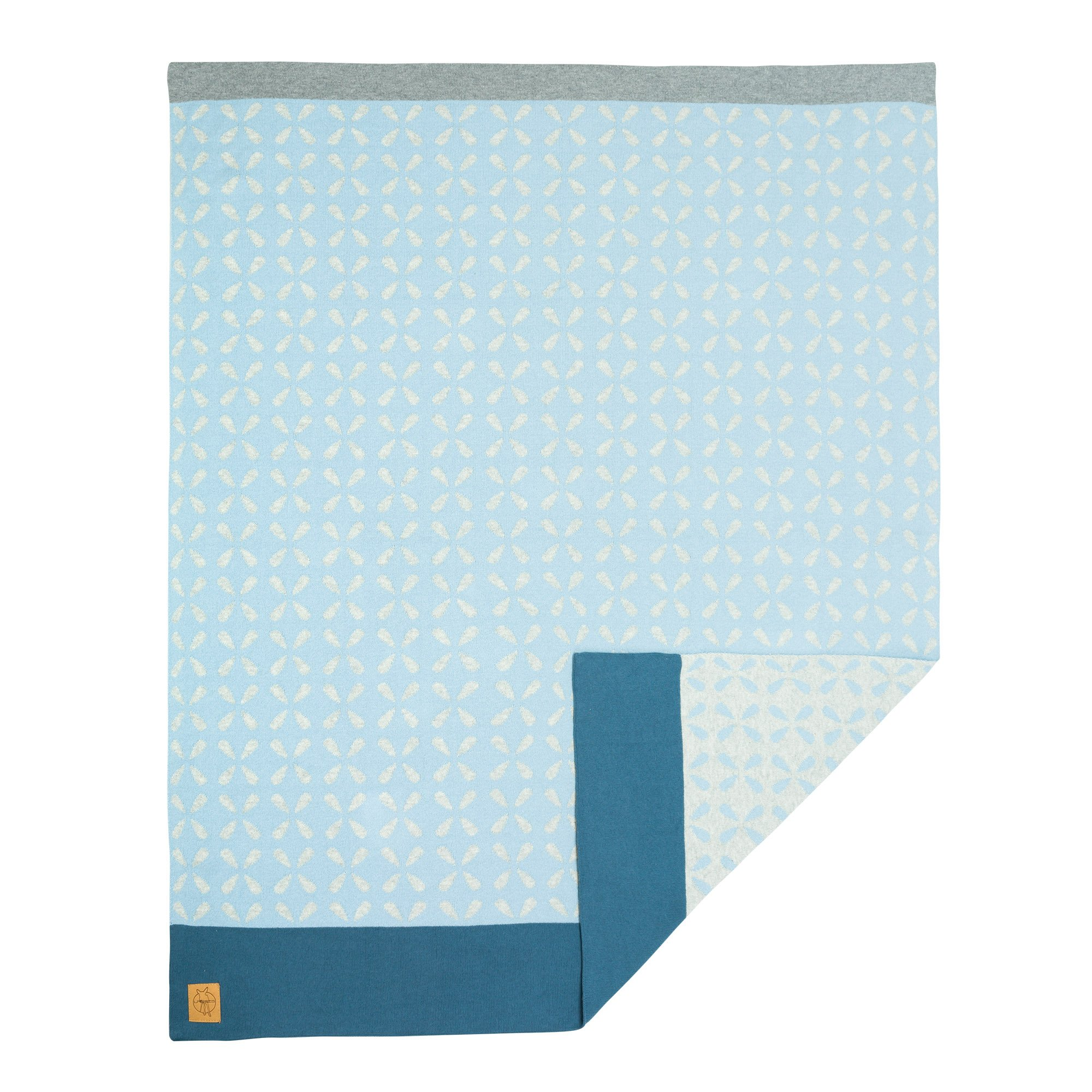 Lassig Baby Knitted Blanket Sparkles, Blue