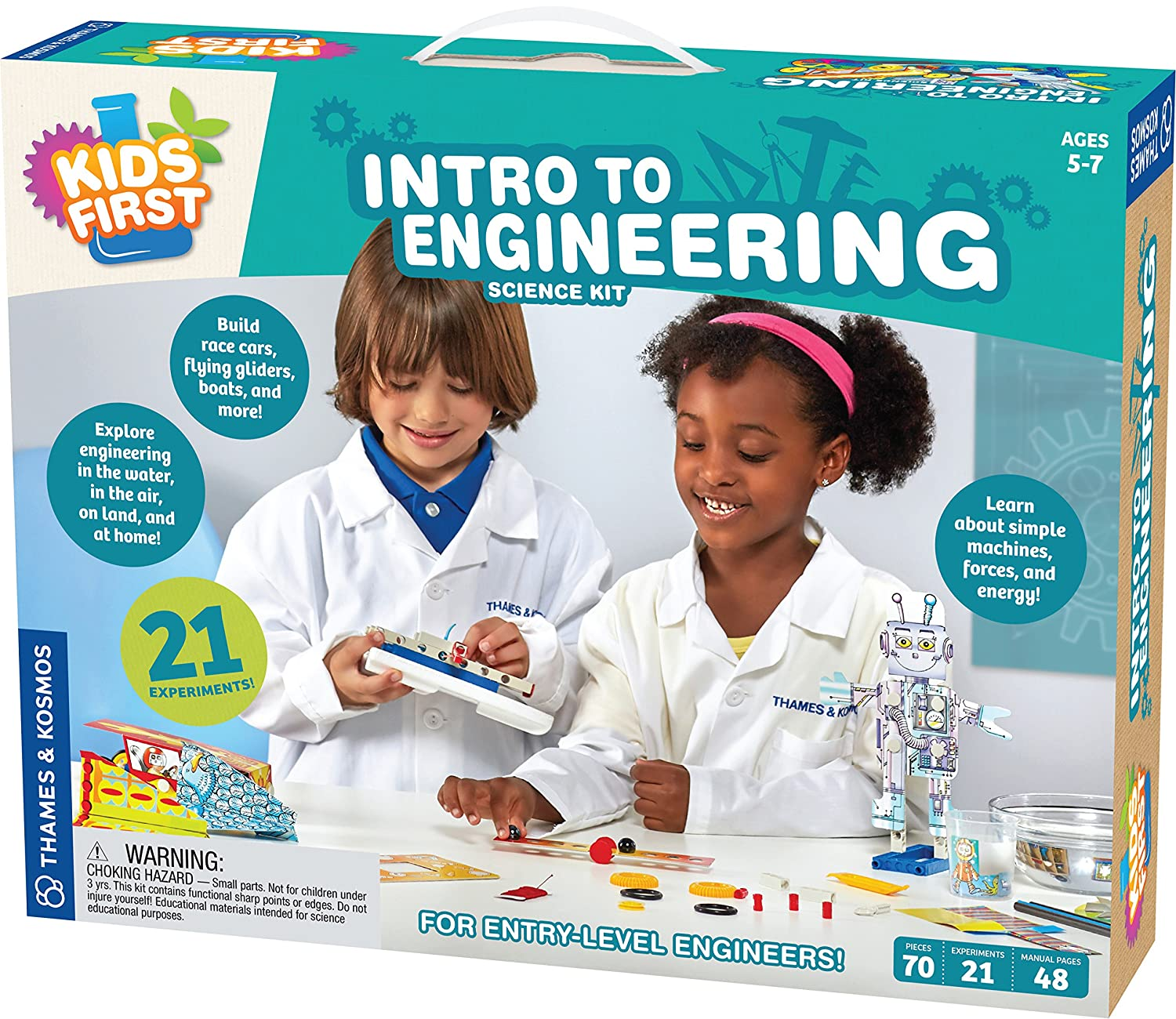 Thames Kosmos Kids First Intro To Engineering Kit Basic Electronics Toys For Snap Circuits Jr Sc 100 Games