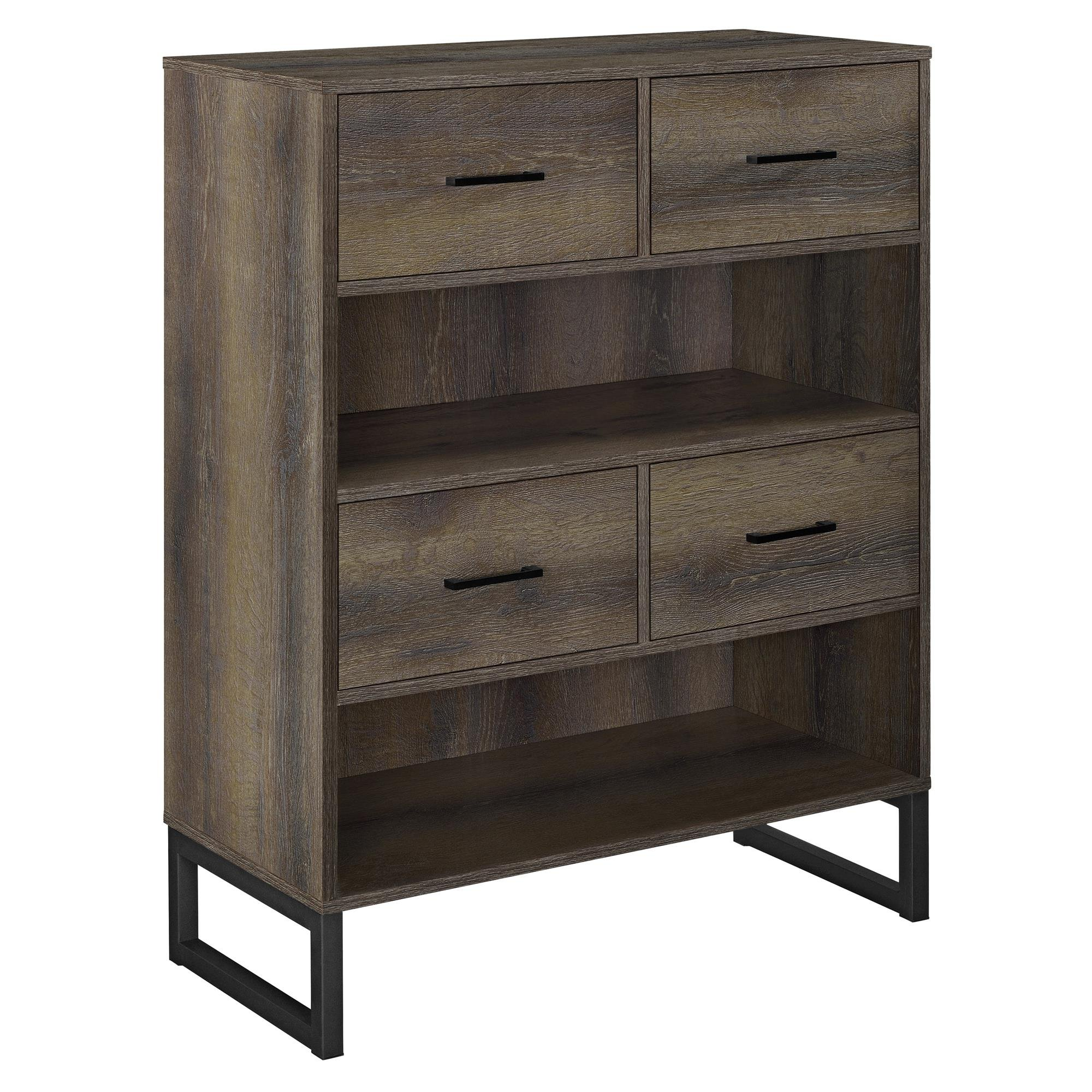 Ameriwood Home 9665096COM Candon Bookcase Bins, Distressed Brown Oak by Ameriwood Home