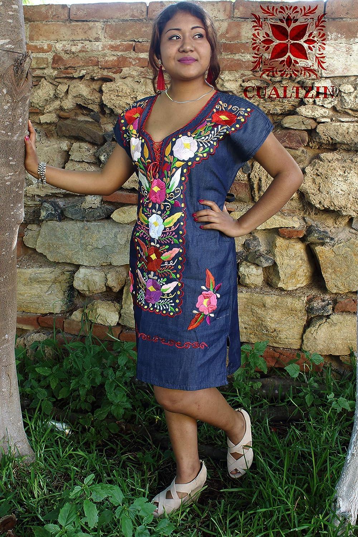 Amazoncom Vestido Mexicano Gala Artesanal Autentico