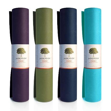 JadeYoga Fusion Yoga & Pilates Mat - Midnight Blue: Amazon ...